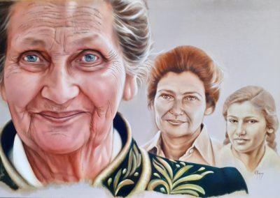 126 - Histoire d'une vie, Simone VEIL - Huile sur toile 100 x 150 - 2021